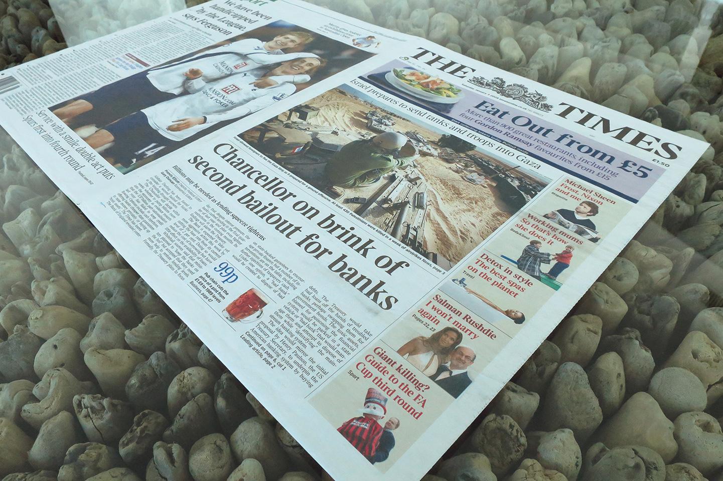 Genesis Block Newspaper Copies